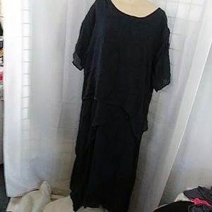 2pc look Navy Plus dress
